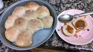 Butter rolls and coconut jam
